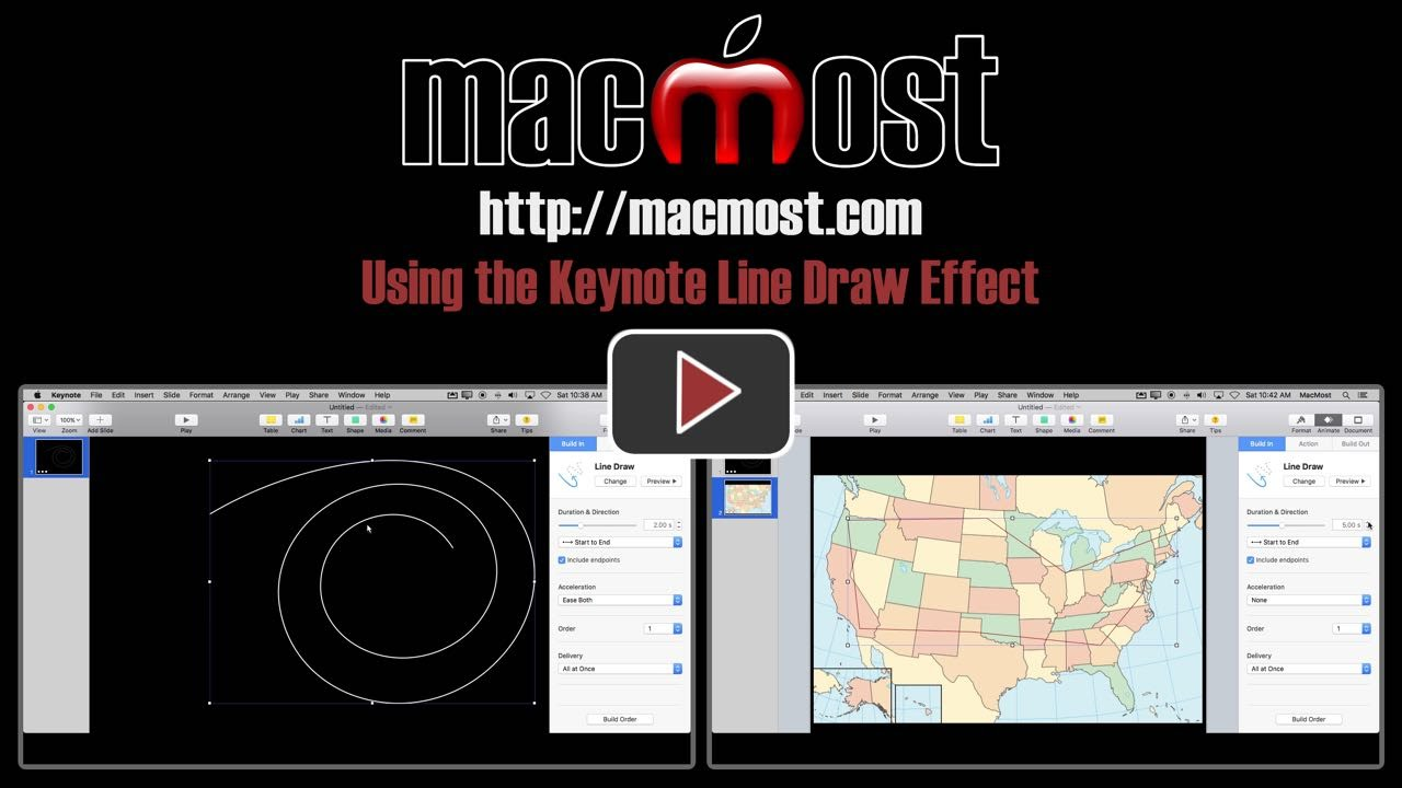 Drawing Lines In Keynote : Using the keynote line draw effect macmost