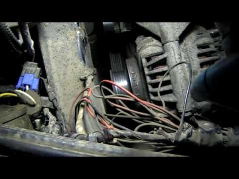 Рено логан как снять генератор