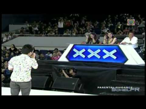 Geo Ed Rebucas sings Through The Rain  - Pilipinas Got Talent Season 3 HD Video