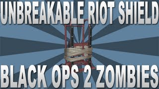 Black Ops 2 Zombie Glitches: Unbreakable Riot Shield (Invincible)