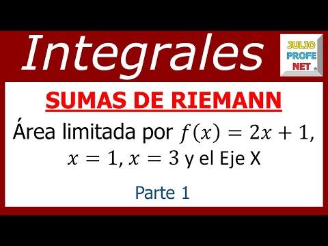 Sumas de Riemann (parte 1 de 2)