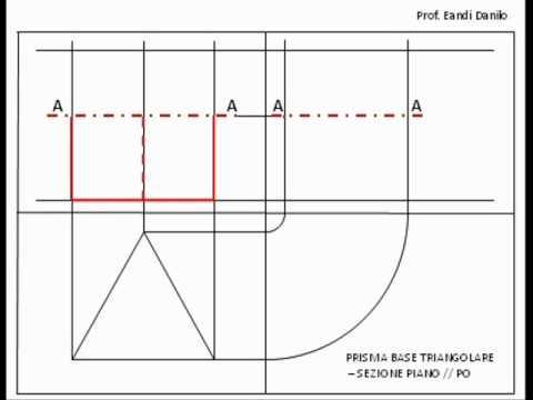 Prisma base triangolare: sezione piano // PO
