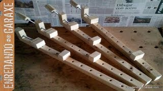 Como hacer sargentos de madera. How to make wooden clamps.