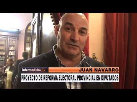<b>Ley Castrill�n. </b>Navarro confirm� la reforma electoral en E.R. pero dijo que no hay plazo