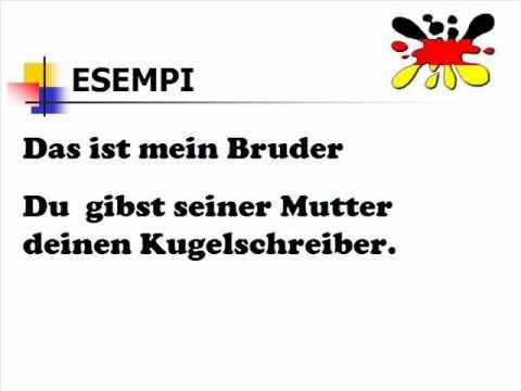 Lezioni di tedesco 14- aggettivi possessivi