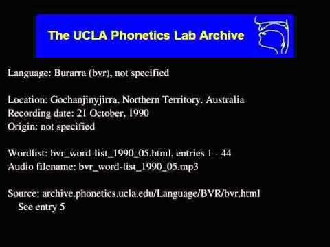 Burarra audio: bvr_word-list_1990_05