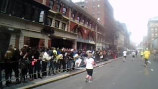 Boston Marathon 2013 explosion marathoner's point of view