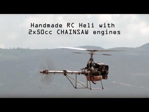 Handmade rc helicopter 2Χ50cc CHAINSAW engines - UCNM6GZc--YsxJSZu4FK8vzQ