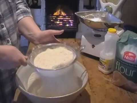 Making Irish Soda Bread at Fawn Cottage Co. Donegal by the old turf fire for St. Patricks Day