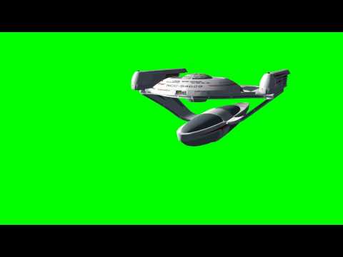 Star Trek USS Squires - different flight views - free green screen