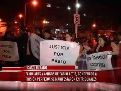 Familia de Pablo Actis se manifestó en contra de la condena por la muerte de Agustina Turano