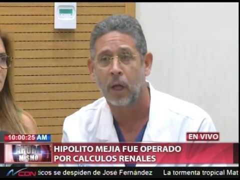 Rueda de prensa sobre salud de Hipólito Mejía.
