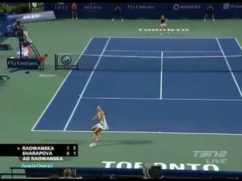 Maria Sharapova vs Agnieszka Radwanska 2009 Toronto Highlights