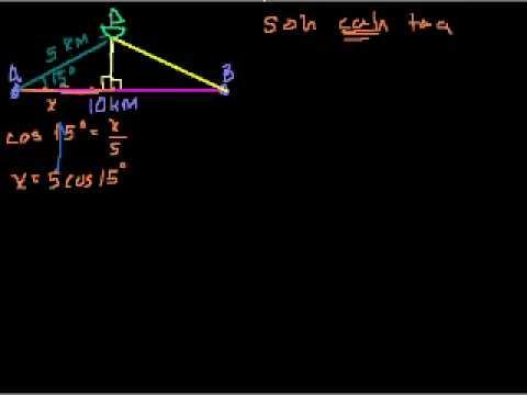 Problema di Trigonometria a Parole