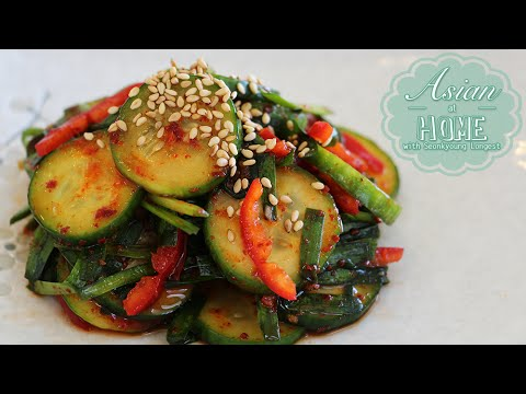 Cucumber Kimchi Salad Recipe : Quick Cucumber Kimchi Recipe 오이무침 (banchan) - UCIvA9ZGeoR6CH2e0DZtvxzw