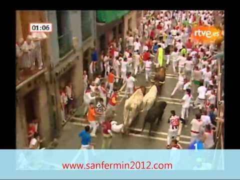 Segundo encierro de san fermin 2010. Encierro 08/07/2012