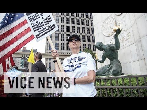 NO WATER FOR THE POOR: (Detroit) Water War    8/19/14