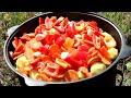 Фрагмент с середины видео СІРНЕ/СЫРНЕ в  казане. КАЗАХСКАЯ КУХНЯ.  Как приготовить сирне на огне.