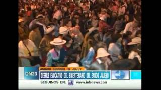 CN23-Seronero. Desfile del bicentenario del éxodo jujeño. Nota Federaciòn Gaucha Exodo Jujeño. view on youtube.com tube online.