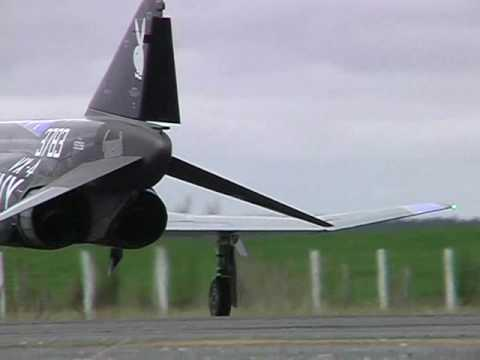 Huge turbine-powered F4 Phantom RC plane maiden flight