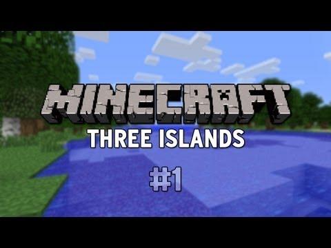 Minecraft Custom Map - Three Islands - Part 1 (CTM) w/Gamerbomb