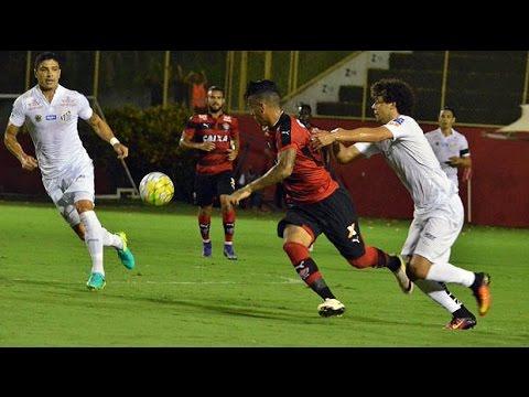 Veja os gols de Vitória 2 x 3 Santos