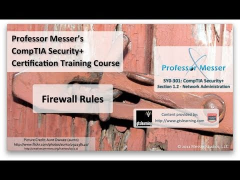 CompTIA Security+ SY0-301: 1.2 - Firewall Rules
