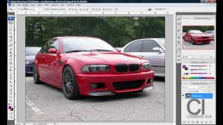 Photoshop tutorial: How to change the color of a car