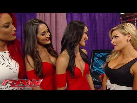 Natalya slaps Brie Bella: Raw, August 5, 2013