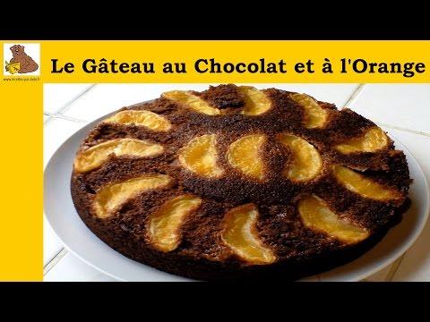 Le gâteau au chocolat et à l'orange (recette rapide et facile) HD