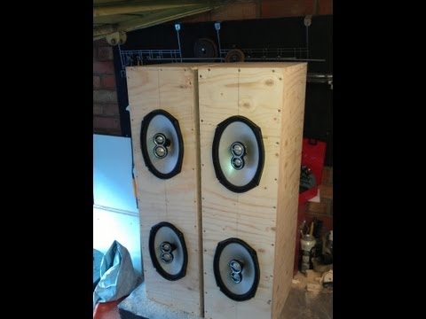 How to build home 6x9 speaker box cab