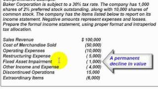 Accounting Lecture 17   Corporate Income Statement   YouTube