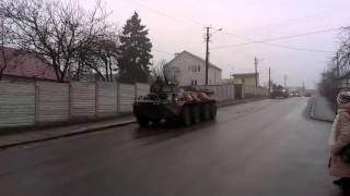 В Житомире замечены БТРы и военная техника