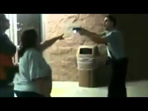 Wal-Mart Security Taser Out Of Control Couple