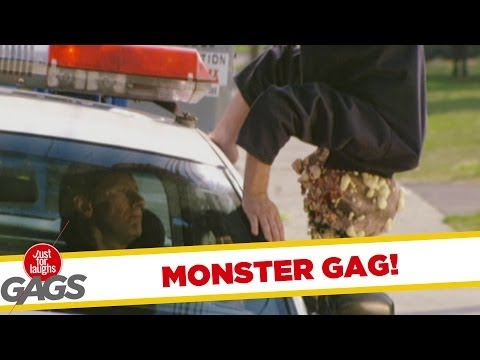 Upside down monster prank!