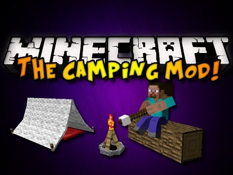 Minecraft: The Camping Mod - TENTS, CAMPFIRES, & MORE! (HD)