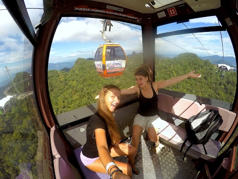 Amazing Sky Cab and Sky Bridge with GOPRO in Langkawi [ Malaysia 2017 ]