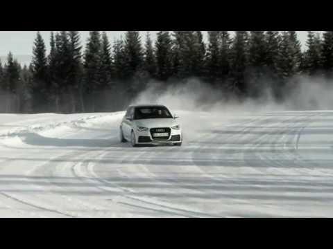 Audi A1 quattro im Schnee in Schweden