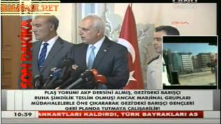 İstanbul Valisi Hüseyin Avni Mutlu Gezi Park ve Taksim Müdahalesi Açıklaması canlı yayın 11.06.2013