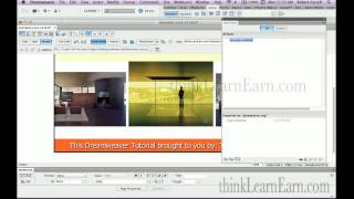 Dreamweaver tutorial lessons: html5 CS3 keyframe animation build a photo gallery from scratch