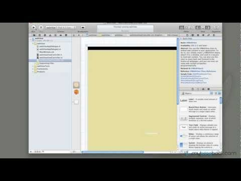 Learn Xcode 4 Tutorial iOS iPad iPhone 1.17 UIWebView Button Navigation pt2