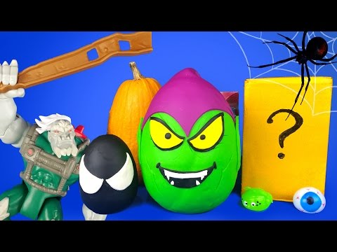 Squishy Ball Play Doh : Halloween Spiderman Toys Kinder Play-doh Surprise Eggs with Avengers Toys & Squishy Balls ...