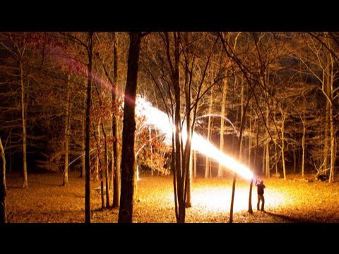 12 Gauge Dragon-s Breath AT NIGHT!-  Smarter Every Day 2