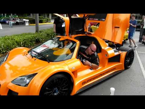 Gumpert Apollo Supercar  starting up!