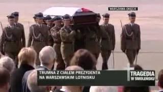 Prezydent Polski Lech Kaczyński wraca z Rosji w trumnie