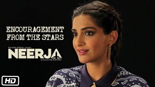 Making of Neerja - Encouragement from the Stars
