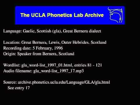 Gaelic, Scottish audio: gla_word-list_1997_17