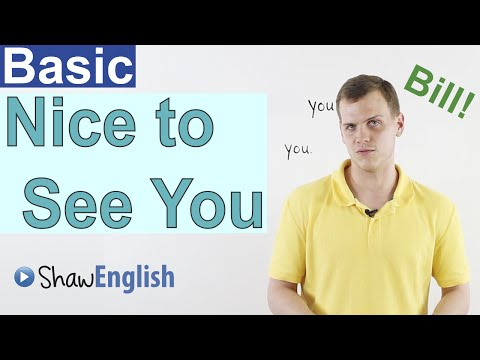 Learn English: Nice to See You
