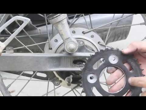 Cách thay nhông xích xe máy phổ thông