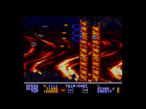 Thunder Force AC Arcade PCB Gameplay